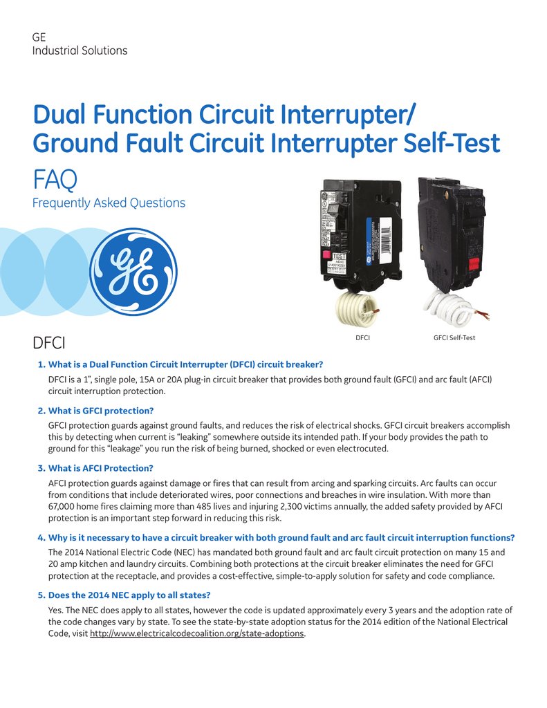 Deq 230 Dual Function Dfci Gfci Faq Groundfault Circuit Interrupter Protects From Electric Shock