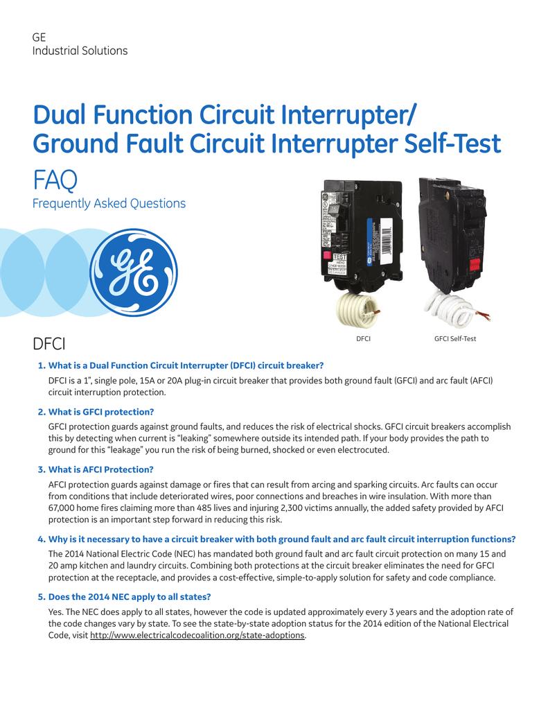 Deq 230 Dual Function Dfci Gfci Faq Arc Fault Circuit Breaker In Addition Interrupter