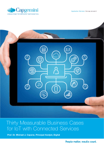 Thirty Measurable Business Cases for IoT with Connected Services