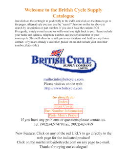 Welcome to the British Cycle Supply Catalogue