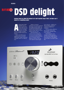 REVIEW HI-FI WORLD DSD delight