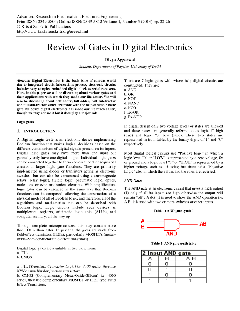 Review Of Gates In Digital Electronics This Is A Transistor Logic Ttl And Gate Circuit Using 018432034 1 9d9d90a046d56eabd091f8e9053a4221