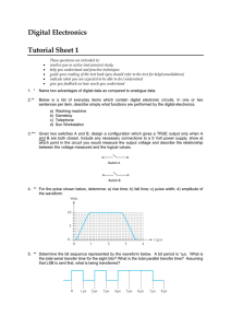 Digital Electronics Tutorial Sheet 1