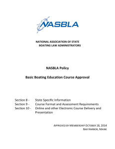 National Standards for Boat Operator Knowledge 1