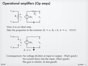 Operational amplifiers (Op amps)