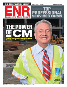 Reprinted with permission by ENR Magazine © 2010 The McGraw