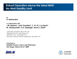 Robust Operation above the Ideal MHD No