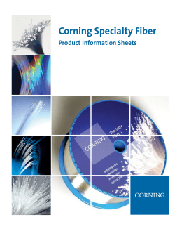 Corning Specialty Fiber Product Information Sheets
