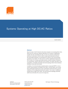 Systems Operating at High DC:AC Ratios