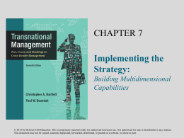 CHAPTER 7 Implementing the Strategy