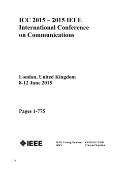 ICC 2015 – 2015 IEEE International Conference on Communications