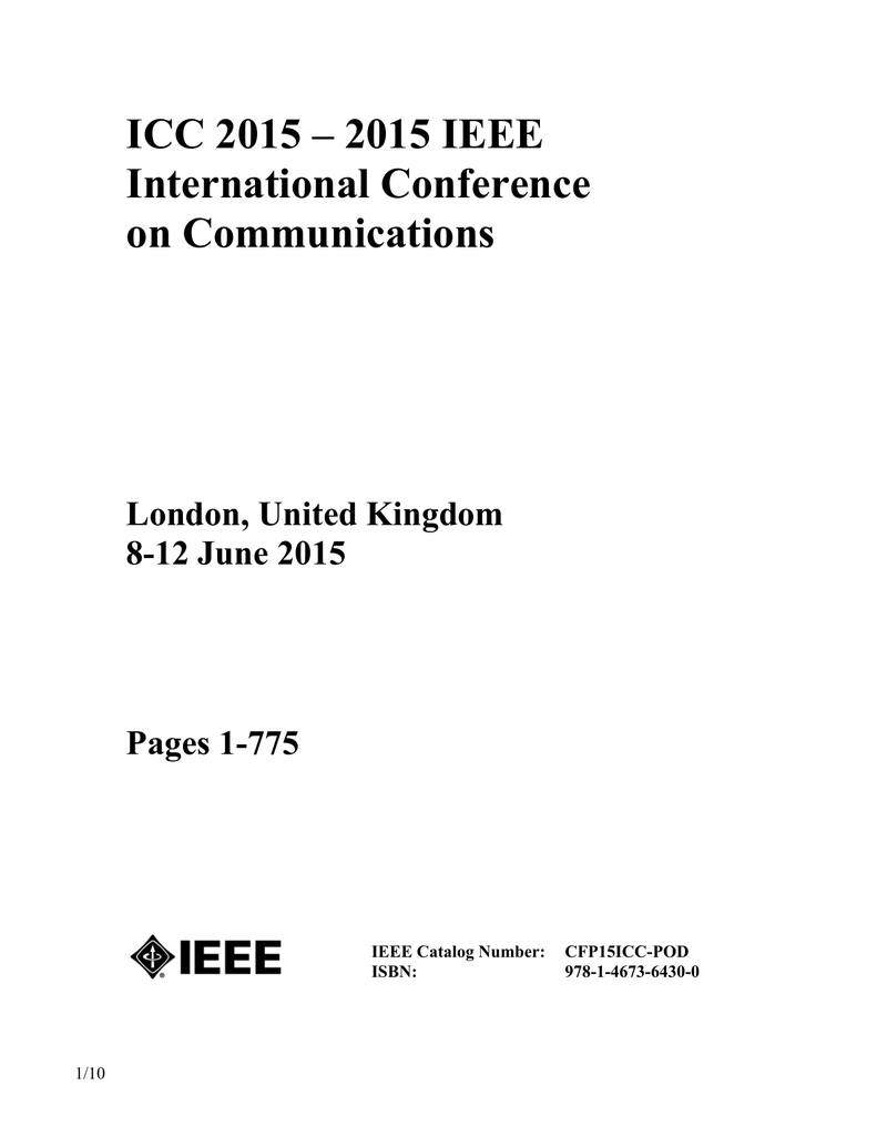 Icc 2015 Ieee International Conference On Communications Analog And Mixed Signal Integrated Circuits Arun Ravindran 018432909 1 B52bbd6301de8a06a39df3b3738aa25a