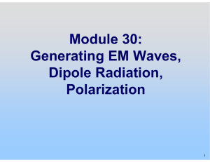 Lecture Slides: Generating EM Waves Dipole Radiation