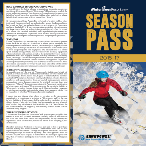 Season Pass - Wintergreen Resort