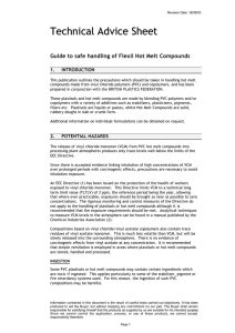 Guide to safe handling of Flexil Hot Melt Compounds