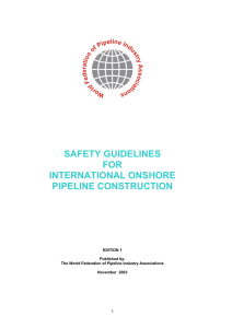safety guidelines for international onshore pipeline