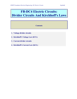 Divider Circuits and Kirchoffs Law File