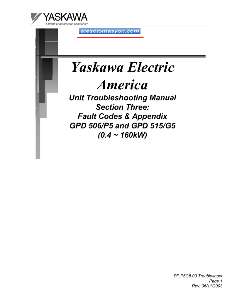 Faults Yaskawa A1000 Wiring Diagram