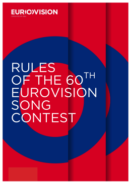 rules of the 60 eurovision song contest