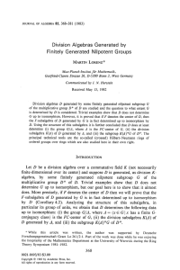 Division Algebras Generated by Finitely Generated Nilpotent Groups