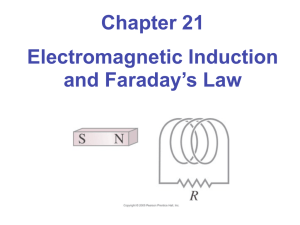 Chapter 21 Electromagnetic Induction and Faraday`s Law