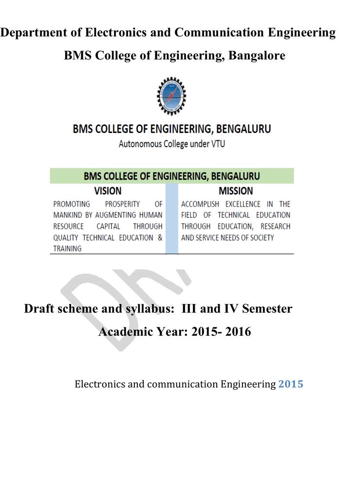 3rd and 4th semester Syllabus