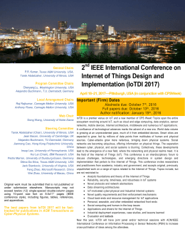 2 IEEE International Conference on Internet of Things Design and