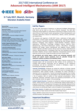 IEEE International Conference on Advance Intelligent Mechatronics
