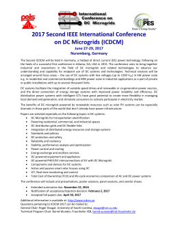 2017 Second IEEE International Conference on DC Microgrids