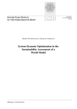 System Dynamic Optimization in the Sustainability Assessment of a