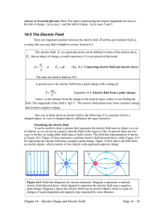 16-5 The Electric Field