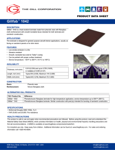 Gillfab™ 1042 - The Gill Corporation