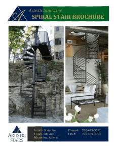 spiral stair brochure - Artistic Stairs Canada