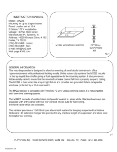 MX222 Operating Manual - PrimeTime Lighting Systems