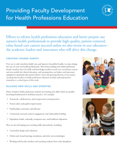 Providing Faculty Development for Health Professions Education