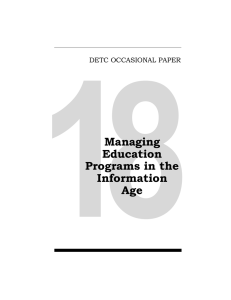 Managing Education Programs in the Information Age