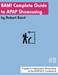 8 - BAM! Complete Guide to APAP Showcasing