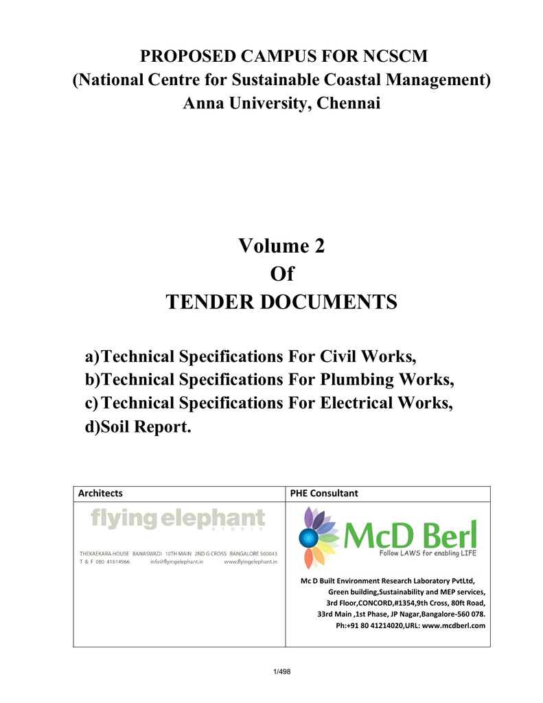 Technical Specifications Vol 2