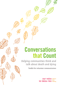 Conversations about death and dying Toolkit