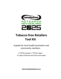 Tobacco-free Retailers Tool Kit: A guide for local health promoters