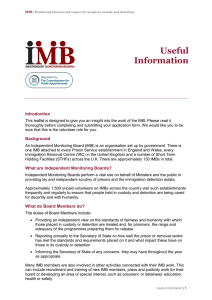 Useful information about the IMB