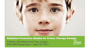 Radiation Protection Studies for Proton Therapy Centres Frédéric