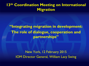 Integrating migration in national development strategies