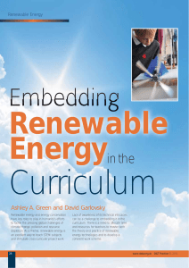 Embedding renewable energy - Solar