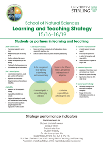 Learning and Teaching Strategy 15/16–18/19