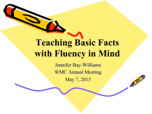 Teaching Basic Facts with Fluency in Mind