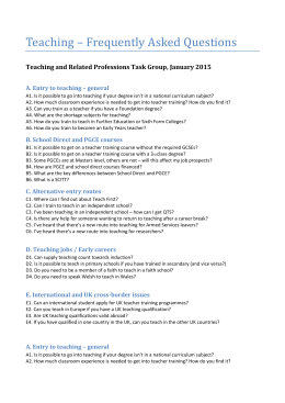 Teaching – Frequently Asked Questions