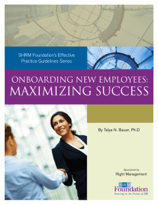 Maximizing Success - Society for Human Resource Management