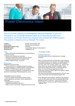 Power Electronics Intern