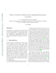 Heat to electricity thermoacoustic
